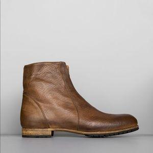 Billy Reid Watson zip up boots sz 7 brown leather